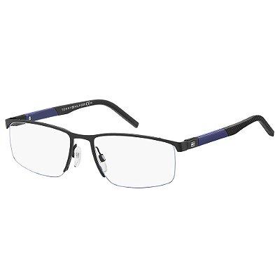 Óculos de Grau Tommy Hilfiger TH 1640/54 Preto/Azul