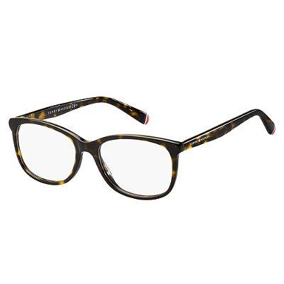 Óculos de Grau Tommy Hilfiger TH 1588/50 Havana Escuro
