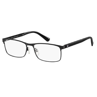 Óculos de Grau Tommy Hilfiger TH 1529/56 Preto Fosco