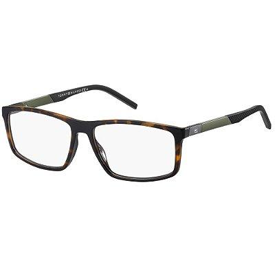 Óculos de Grau Tommy Hilfiger TH 1638 -  56 - Marrom