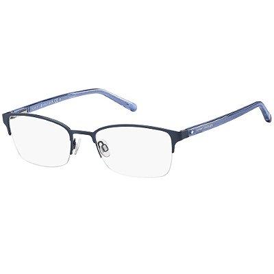 Óculos de Grau Tommy Hilfiger TH 1748 -  52 - Azul