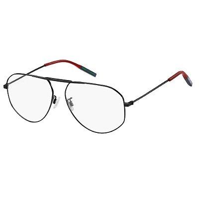 Óculos de Grau Tommy Hilfiger Jeans TJ 0021 -  58 - Preto