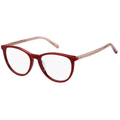Óculos de Grau Tommy Hilfiger TH 1751 -  52 - Vermelho