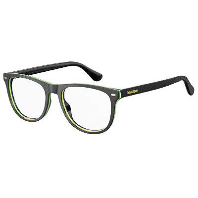 Óculos de Grau Havaianas Macae/V -  52 - Preto