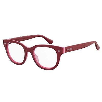 Óculos de Grau Havaianas Almada/V -  49 - Vermelho