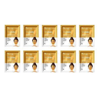 Máscara Facial Peel Off Total Ouro Max Love – Pcte c/ 10 unid