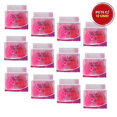 Kit de Esponja Coxinha e Esponja de Silicone para Limpeza Facial Mandala FP-057 – Pcte c/ 12 unid