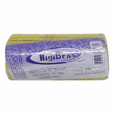 Lixa para Unhas Rolito 11cm HigiBras 282 – Pcte c/ 100 unid