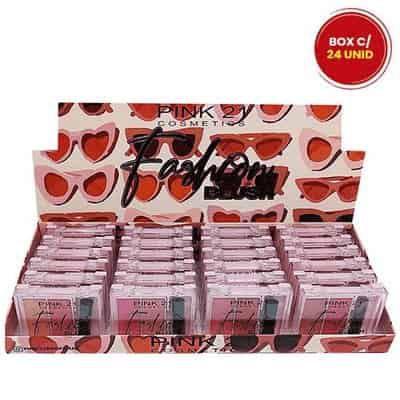 Paleta de Blush Fashion Pink 21 Cosmetics CS3129 - Box c/ 24 unid