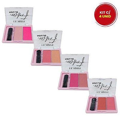 Paleta de Blush Fashion Pink 21 Cosmetics CS3129 - Kit c/ 04 unid