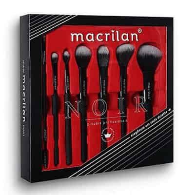 Kit com 7 Pincéis para Maquiagem Noir Macrilan ED009