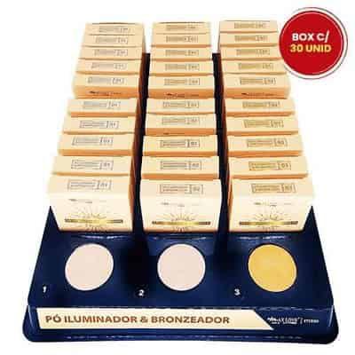 Pó Iluminador e Bronzeador Max Love – Box c/ 30 unid