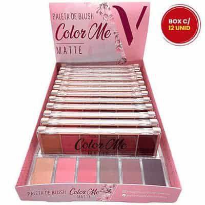 Paleta de Blush Matte Color Me Vivai 2004.4.1 - Box c/ 12 unid