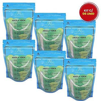 Argila Verde Phállebeauty PH0533 - Kit c/ 06 unid