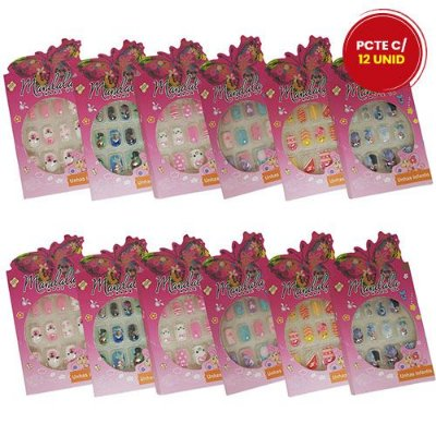 Unhas Postiças Infantil Mandala UN-212 - Pacote c/ 12 caixas
