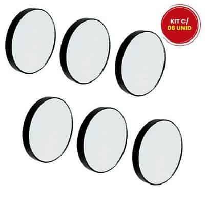 Espelho de Aumento com Ventosa Interponte HJ64520 - Kit c/ 06 unid