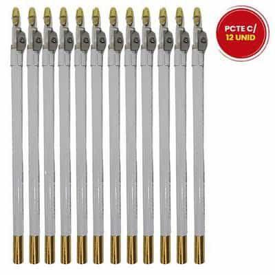 Lápis de Olho Branco com Apontador Fenzza FZ14013 - Pacote c/ 12 unid