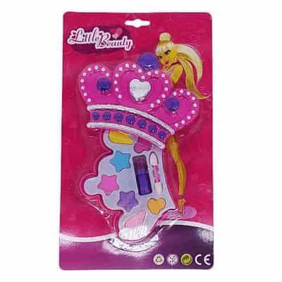 Brinquedo Infantil Little Beauty Kit Maquiagem para Bonecas Coroa P&D-10111M