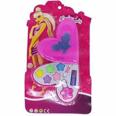 Brinquedo Infantil Little Beauty Kit Maquiagem para Bonecas Coração P&D-90999M