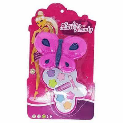 Brinquedo Infantil Little Beauty Kit Maquiagem para Bonecas Borboleta P&D-80888M
