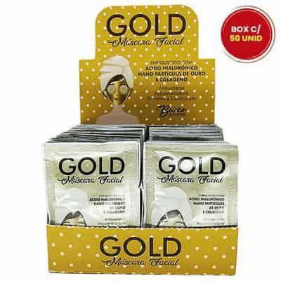 Máscara Facial Gold Beleza Juvenil - Box c/ 50 unid
