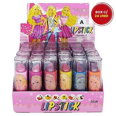 Batom Bastão Teen Frutas Lipstick Febella BM4025 - Box c/ 24 unid