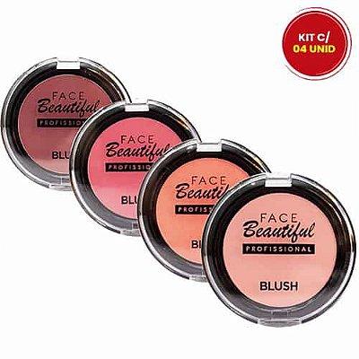 Blush Face Beautiful FB209 - Kit c/ 04 unid