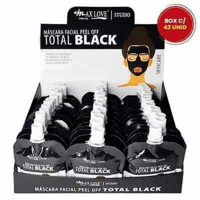 Máscara Facial Peel Off Total Black 50g Max Love - Box c/ 42 unid