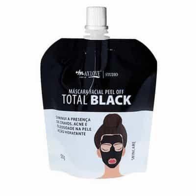 Máscara Facial Peel Off Total Black 50g Max Love