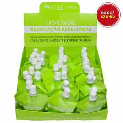 Creme Facial Renovação Esfoliante 50g Max Love - Box c/ 42 unid