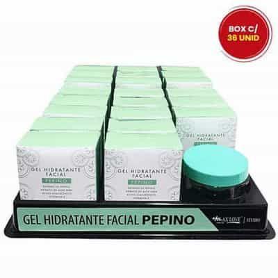 Gel Hidratante Facial Pepino Max Love - Box c/ 22 unid