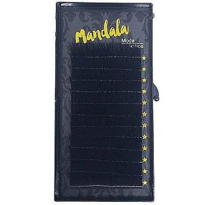 Cílios Fio a Fio 15mm Curvatura D 0.10 Mandala DF-2079