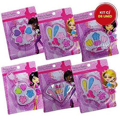 Estojo de Maquiagem Infantil Disco Teen HB 86504 - Kit c/ 06 unid