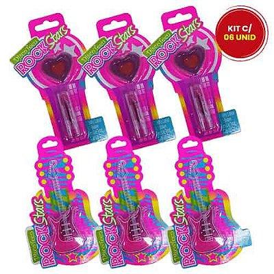 Brilho Labial Infantil Disco Teen HB93224 - Kit c/ 06 unid