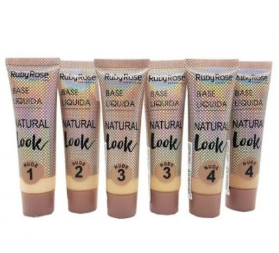 Base Liquida Natural Look Nude Group 1 Ruby Rose HB-8051 - kit c/06 unid