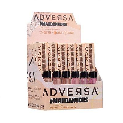 Batom Líquido Matte Adversa Coleção Manda Nudes - Box c/ 24 unid