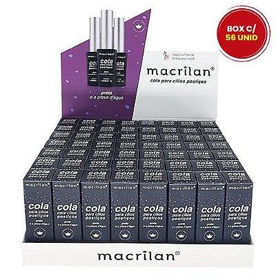 Cola para Cílios Preta a Prova D'água Macrilan CA-002 - Box c/ 56 unid