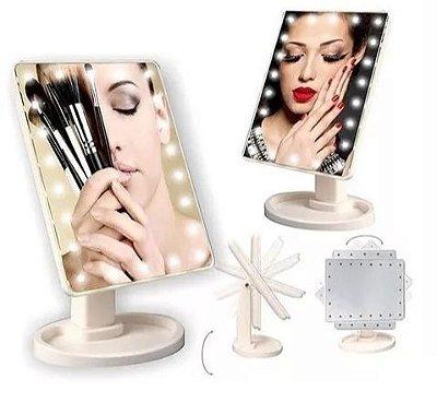 Espelho de mesa com Luz de Led para Maquiagem HJ64522