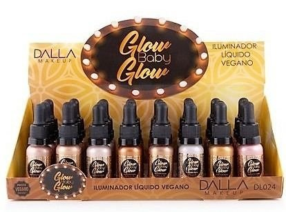 Iluminador Líquido Vegano Glow Baby Glow Dalla DL024 - Box c/ 24 unid