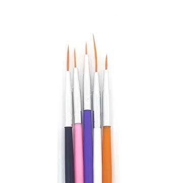 Kit Pincel Para Unhas Artísticas com 5 Pincéis JD-2052