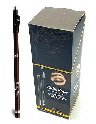 Lápis Delineador de Sobrancelhas Ruby Rose HB-093 C1 Médio - Box c/ 36 unid