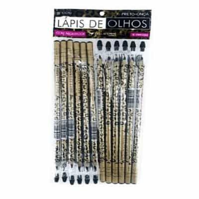 Lápis para Olhos com Apontador Bella Femme BF10019 - Pcte c/ 12 unid
