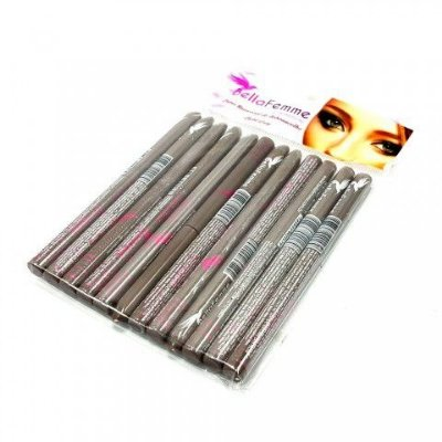 Lápis Universal para Sobrancelha Light Grey Bella Femme BF10027 - Pcte c/ 12 unid