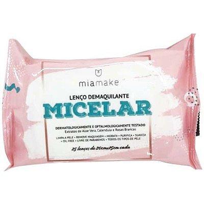 Lenço Demaquilante Micelar Mia Make 222 – Box c/ 24 unid