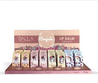 Lip Balm Corzinha Hidratante Labial Dalla DL0309 - Box c/ 24 unid