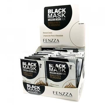 Máscara Facial Preta Removedora de Cravos Black Mask Fenzza FZ38003 - Box c/ 50 unid