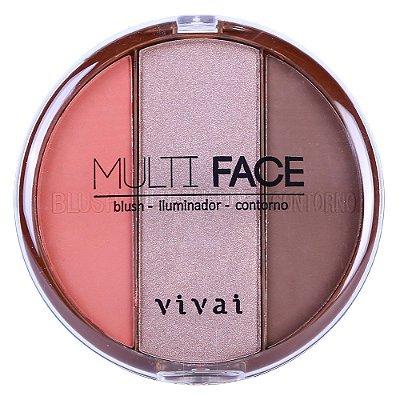 Paleta Multi Face Blush Iluminador Contorno Vivai 1072.1.1