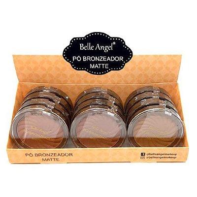 Pó Bronzeador Matte Belle Angel B003 - Box c/ 12 unid