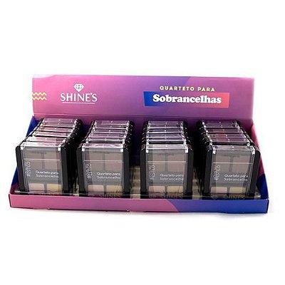 Quarteto para Sobrancelha Linha #Estilo Shine's SH527E - Box c/ 24 unid