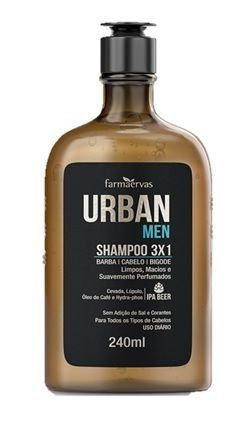 Shampoo 3x1 Urban Men Farmaervas